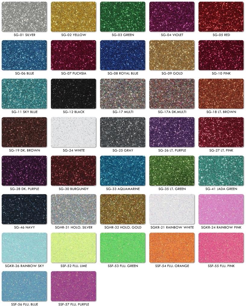 Glitter shine art glitter film color chart nvjuhfo Choice Image